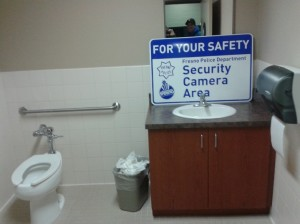 Speaking of office shenanigans... we couldn't resist having some fun when the new security signs came in!