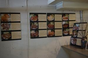 menu wall